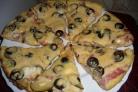 Пицца на сковороде на кефире