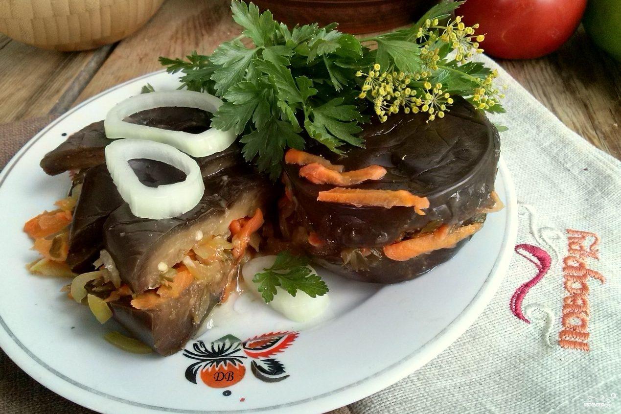 Квашеные баклажаны с морковкой