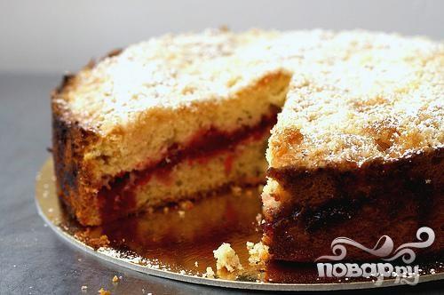 Ванильный пирог с клюквой