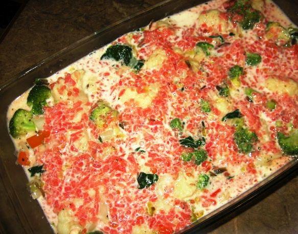 Цветная капуста с овощами в духовке - фото шаг 4