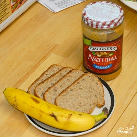 Рецепт Сэндвичи с арахисовым маслом и бананами