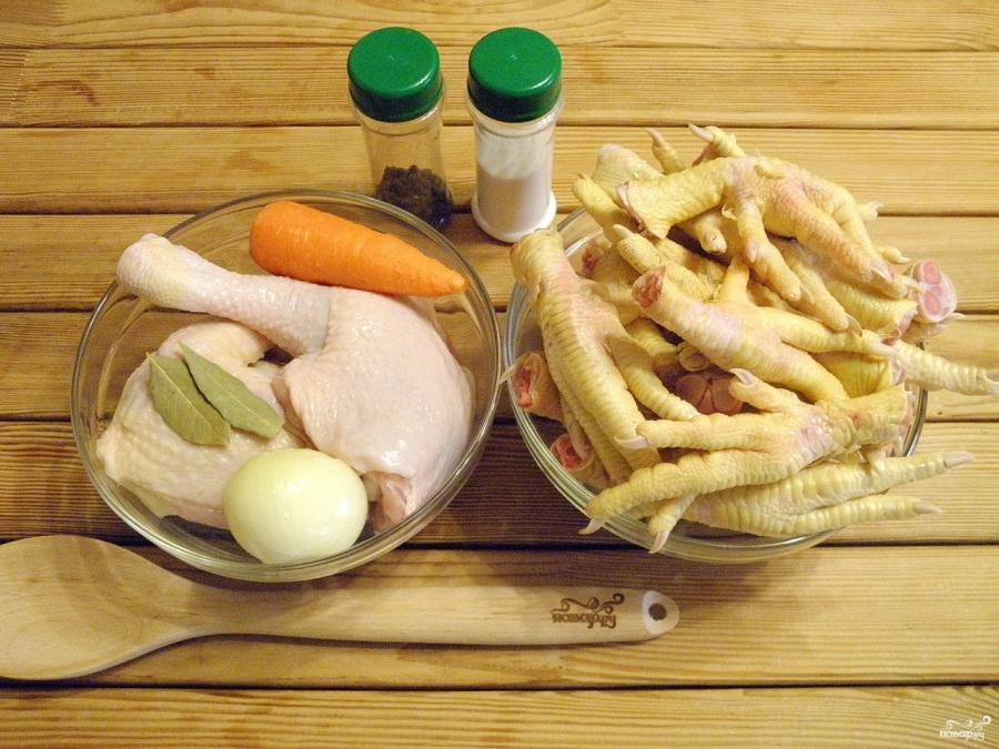 как приготовить холодец из куриных лапок
