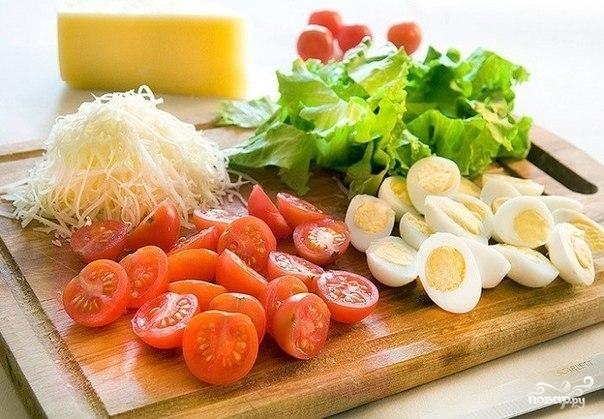 Салат новогодний из креветок - фото шаг 2
