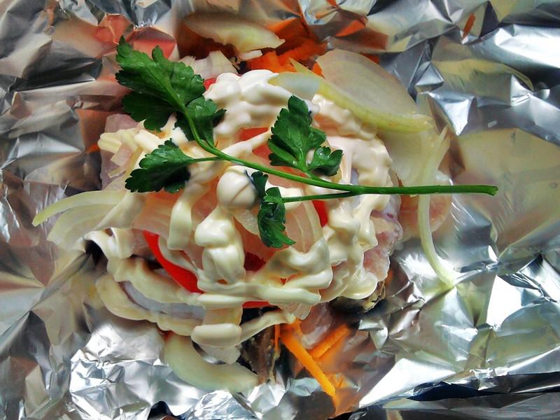 Пангасиус под овощами - фото шаг 5