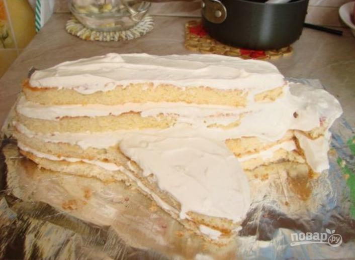 "Торт ""Самолет"" - фото шаг 4"