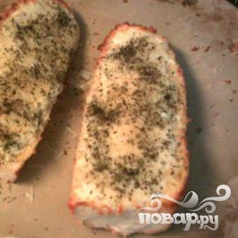 Чесночно-сырный бутерброд - фото шаг 11