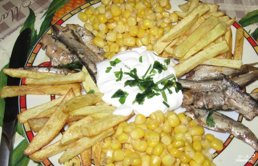 рецепт салат красная рыба и картофель