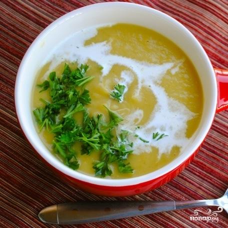 Суп из тыквы с картофелем и луком-пореем - фото шаг 7