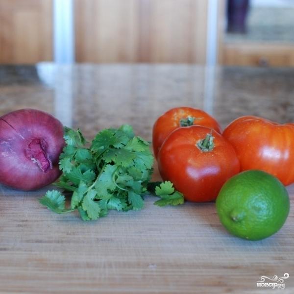 Салат с черной фасолью - фото шаг 1