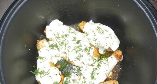 Курица с сыром в мультиварке - фото шаг 4