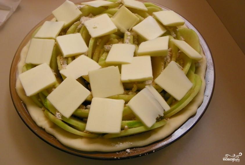 Яблочный пирог из слоеного дрожжевого теста - фото шаг 6