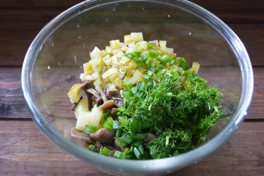 Салат овощной с оливками новые фото