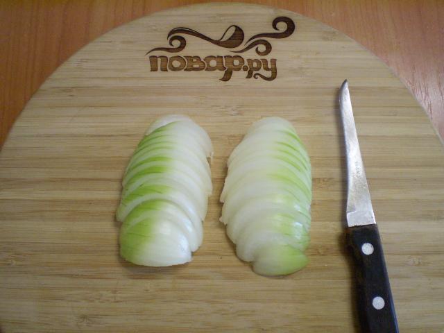 Баклажаны жареные с помидорами и луком - фото шаг 4