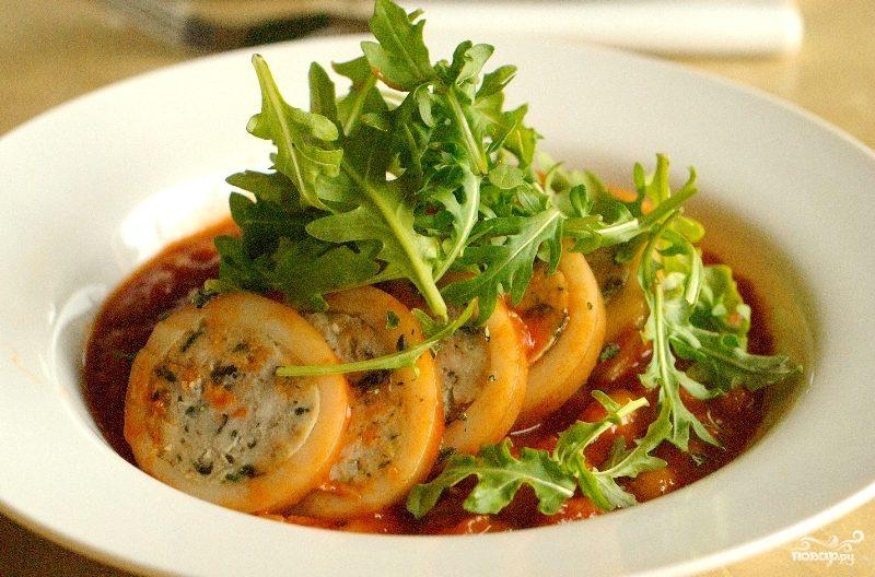 кальмары фаршированные рецепты приготовления с грибами