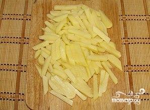 Картофель с маринованными грибами - фото шаг 3