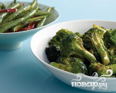 Рецепт Брокколи с устричным соусом