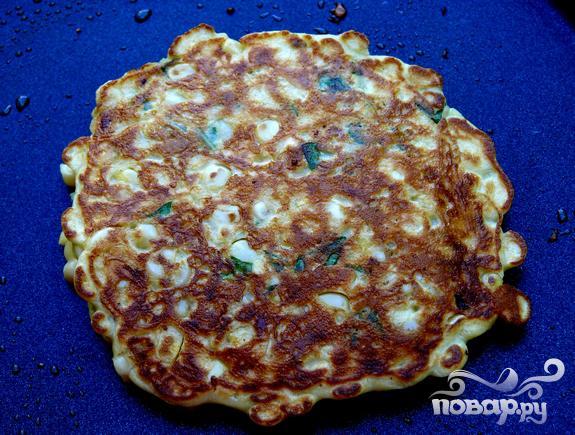 Кукурузный пирог с базиликом - фото шаг 3