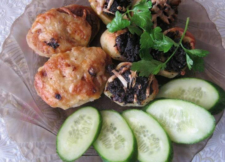 приготовить зразы с грибами в духовке рецепт