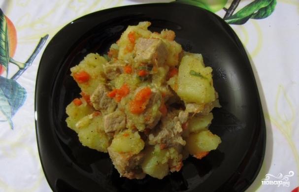 Картофельное рагу со свининой - фото шаг 3
