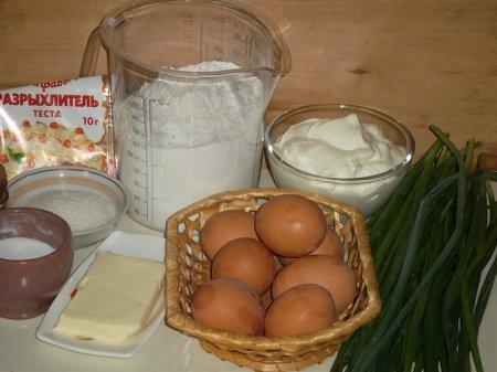 Рецепт Пирог с яйцом и зеленью