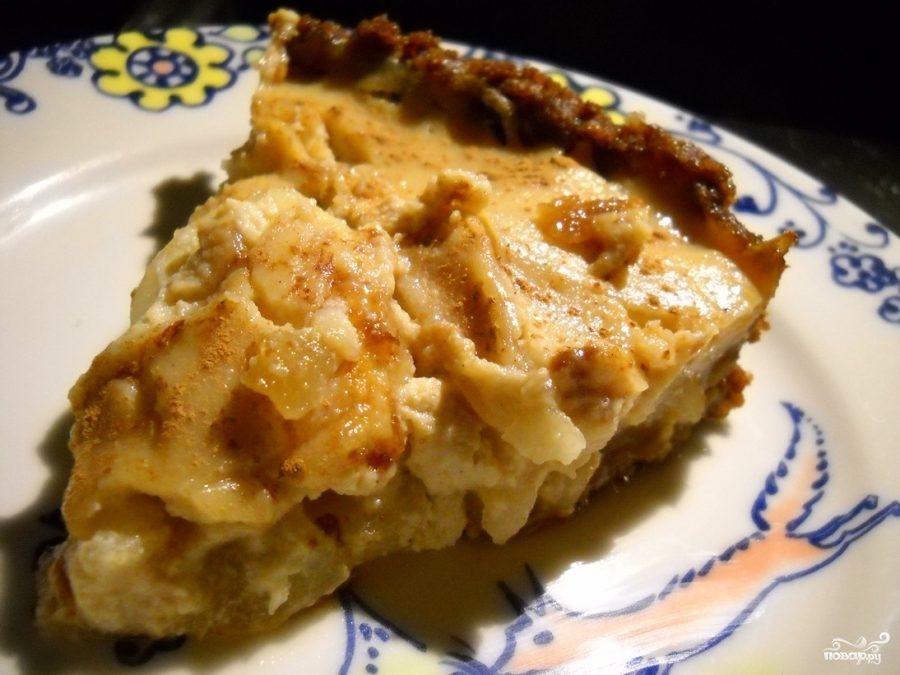 Рецепт Грушевый пирог с миндальным кремом