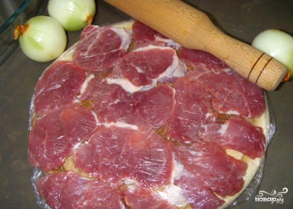 Рецепт Свинина по-французски с грибами