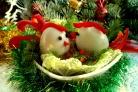 Закуска Петушки из яиц