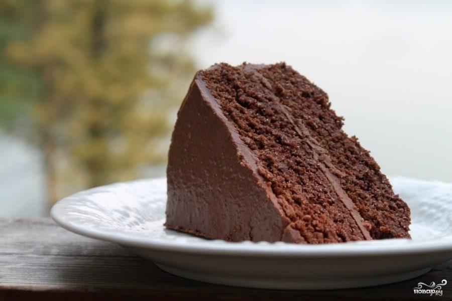 Рецепт Шоколадный торт с пахтой и сахарной глазурью