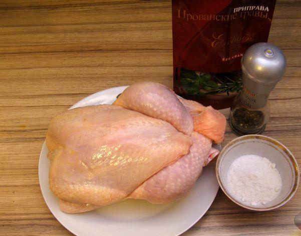 Цыпленок в фольге в духовке - фото шаг 1