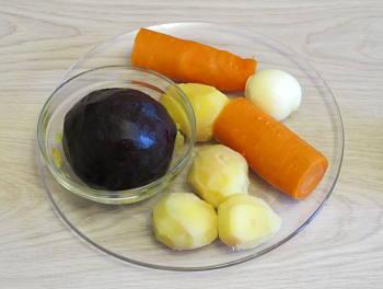 Рецепт Вегетарианская селедка под шубой