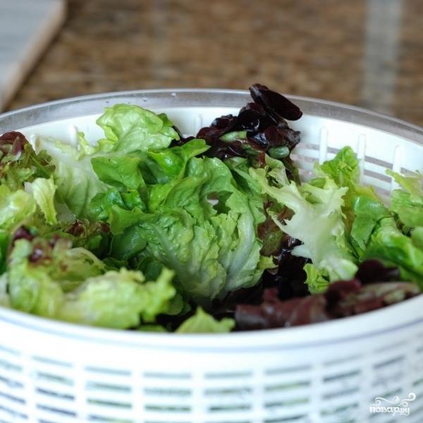 Весенний салат с французской заправкой - фото шаг 2
