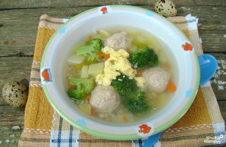 Суп с фрикадельками пошаговый рецепт с детский