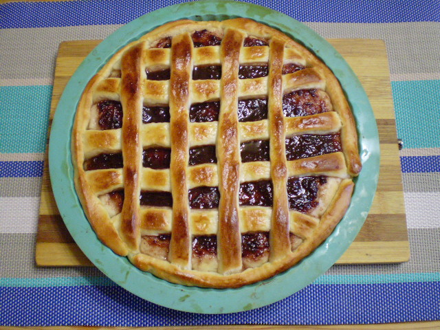 Дрожжевой пирог с вареньем - фото шаг 9