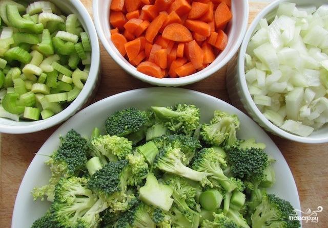 Рецепт Вегетарианский суп-пюре из брокколи