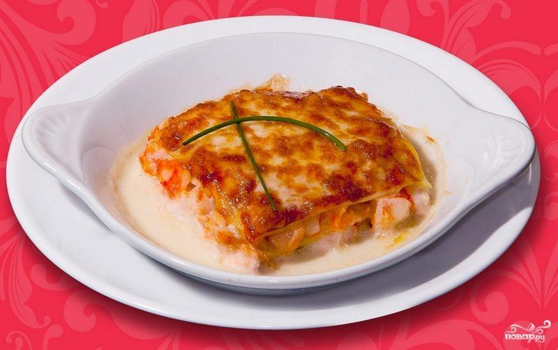 лазанья с морепродуктами пошаговый рецепт