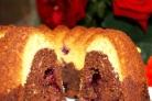 Творожный кекс со смородиной