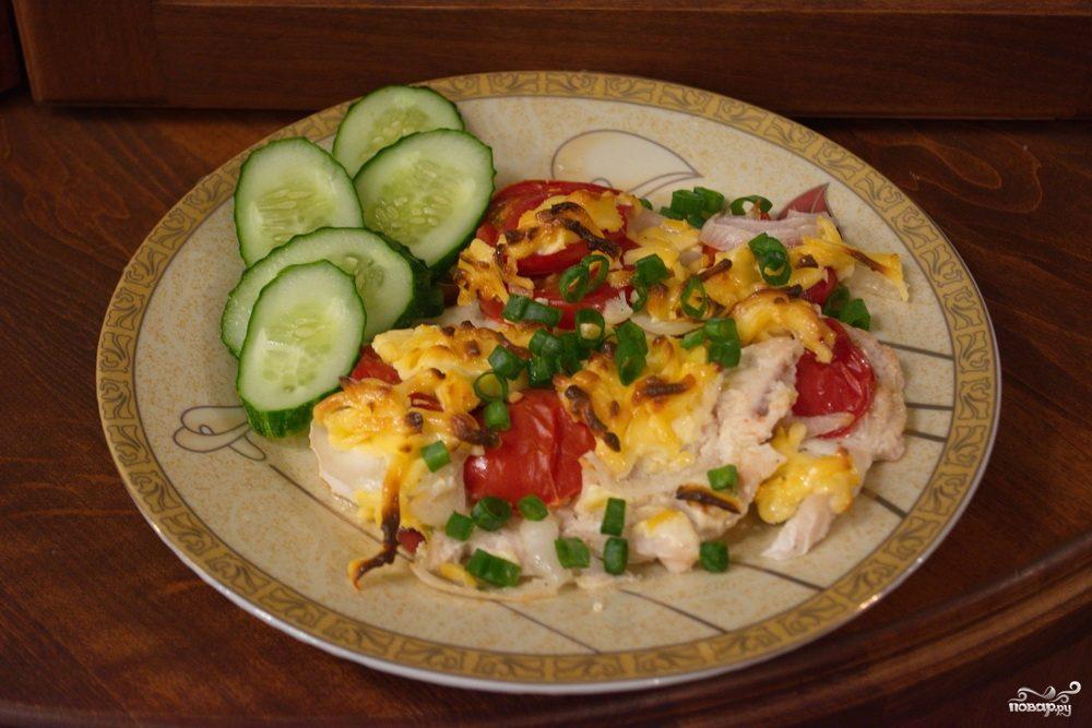 язык с помидорами и сыром в духовке рецепт