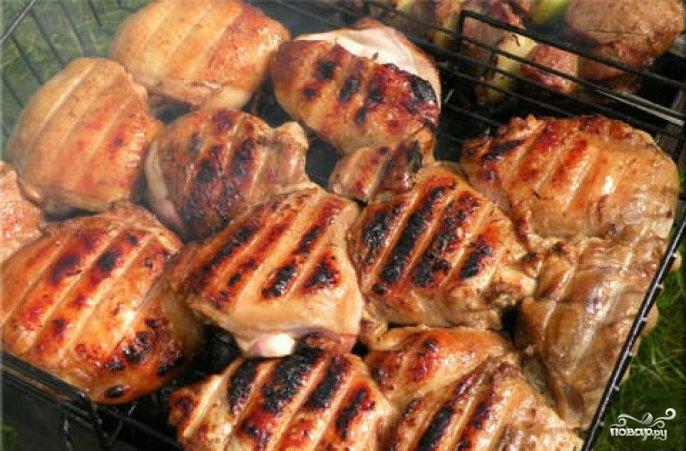 Шашлык из курицы  рецепт