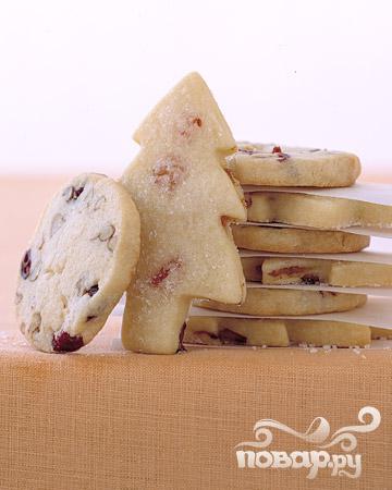 Рецепт Новогоднее печенье с клюквой