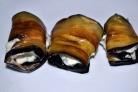 Рулеты из баклажанов с чесноком