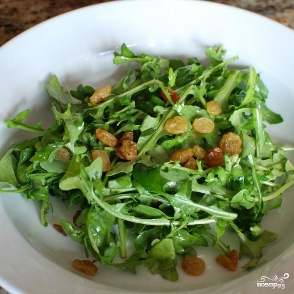 Лимонный салат с рукколой - фото шаг 7