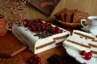 Тортик без выпечки Полосатый
