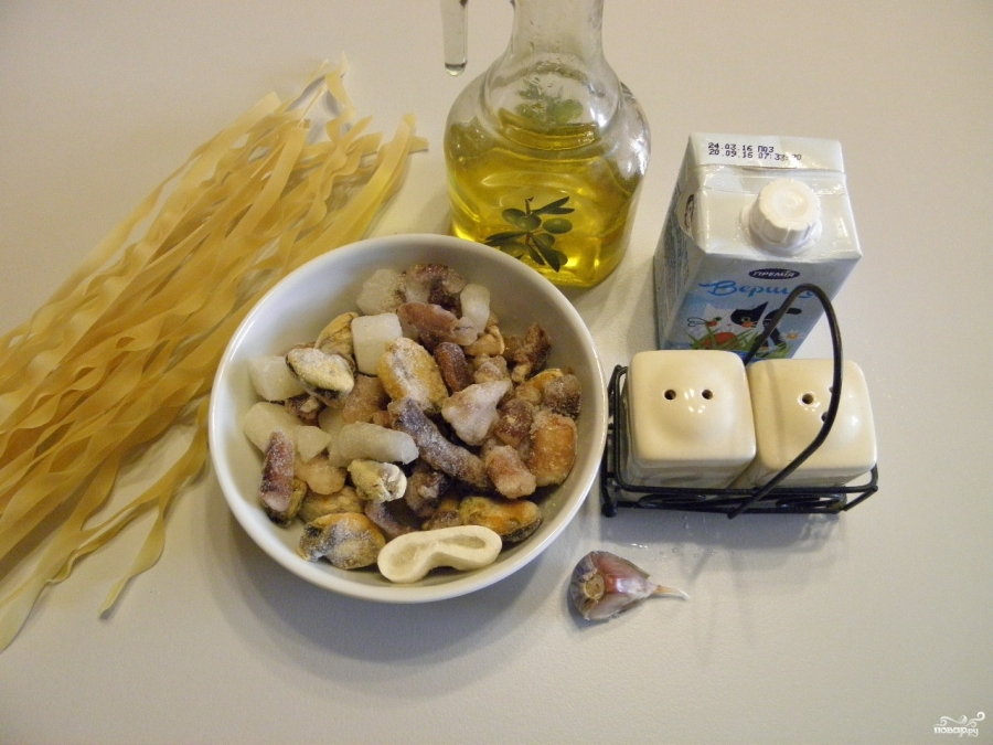 Лапша с морепродуктами - фото шаг 1