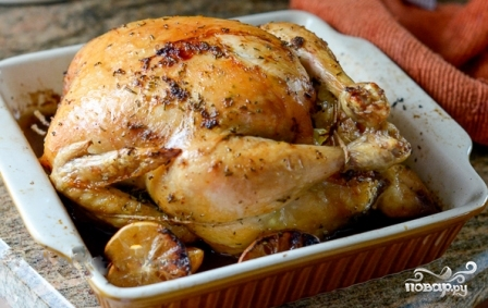 Курица с розмарином в духовке - фото шаг 4