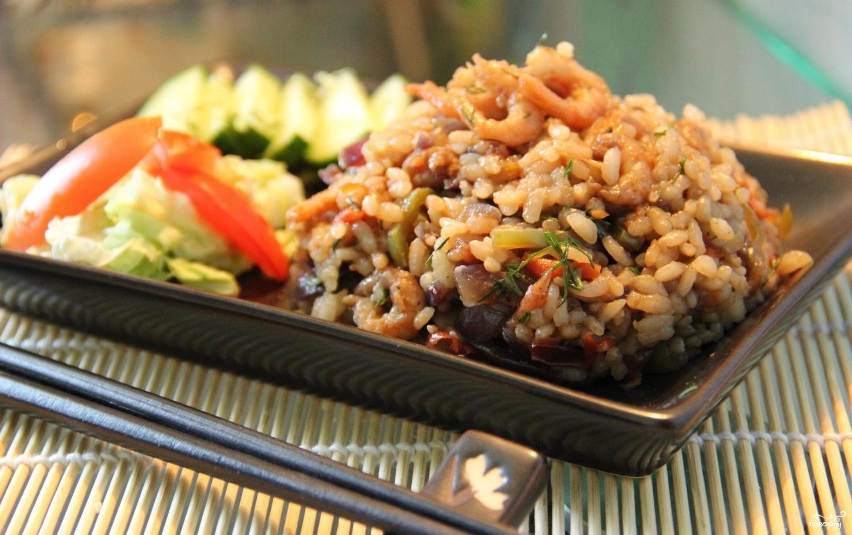 Рис тяхан с овощами