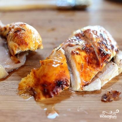 Курица, запеченная с лимоном и розмарином - фото шаг 7