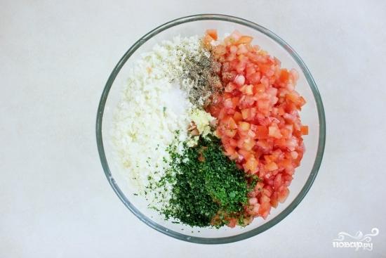 Рецепт Салат из цветной капусты и помидоров