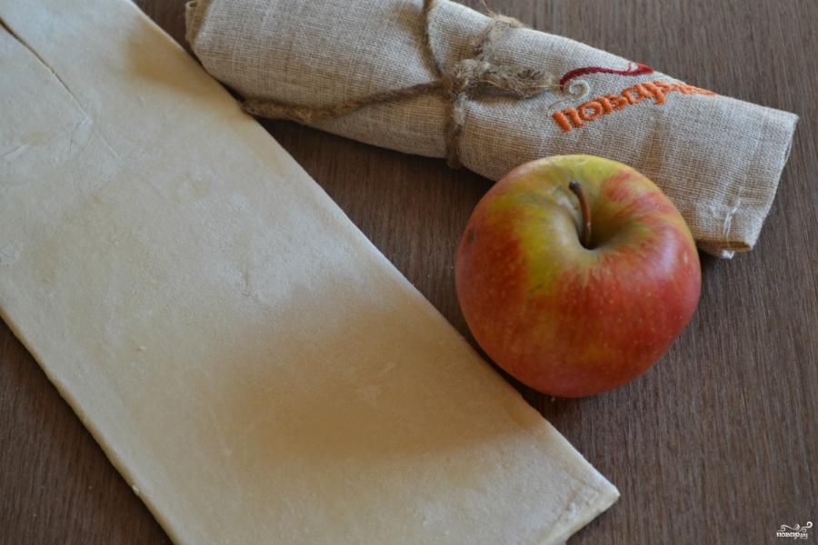 Яблочные розы из слоеного теста - фото шаг 1