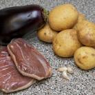Рецепт Тушенная утка с баклажанами и картофелем