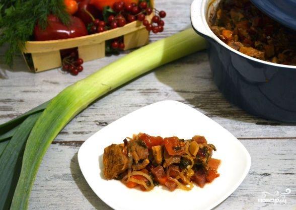 Овощное рагу со свининой в духовке - фото шаг 9